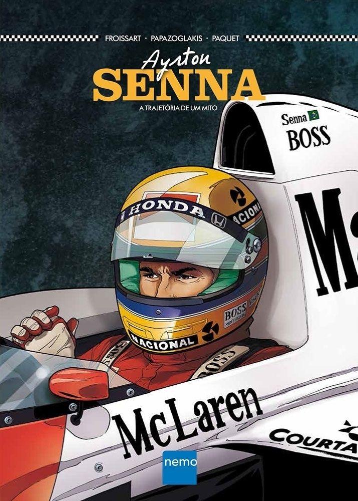 """Os quadrinhos mostram como Senna se tornou """"o mago da chuva"""", conseguindo tirar vantagens mesmo com equipamento inferior quando a água caía"""
