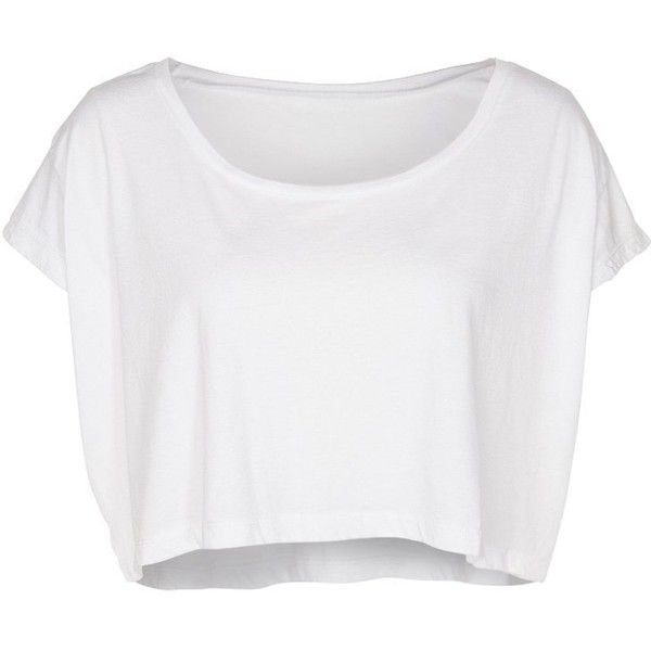 American Apparel Basic Tshirt ($31) ❤ liked on Polyvore featuring tops, t-shirts, shirts, crop tops, white, white crop shirt, short sleeve shirts, pattern t shirts, short sleeve tops and crop t shirt