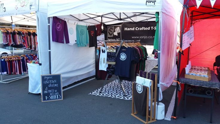 Sonja Handcrafted Tees at the Nelson Saturday Market. www.sonja.co.nz