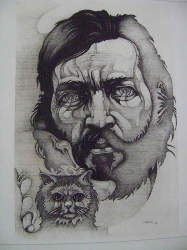 Julio Cortázar por Ricardo Carpani