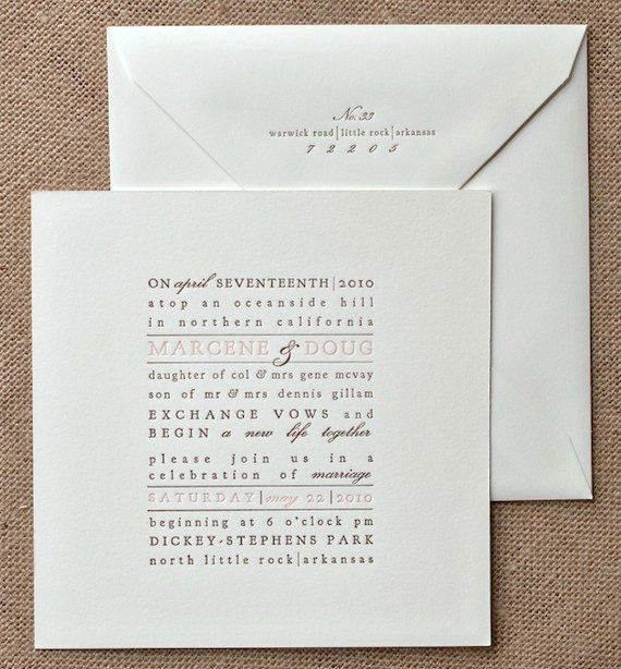 Formal Dinner Invitation Sample 7 Best Invites Images On Pinterest  Graphics Letterpress .