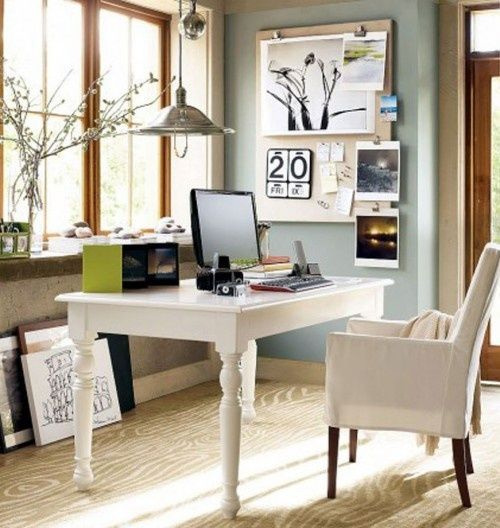 I could work here...Tips and Ideas for Decorating Small Home Office and Studio