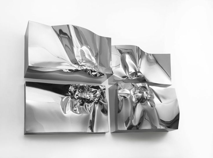 High Relief in stainless steel - sculpture by Helidon Xhixha