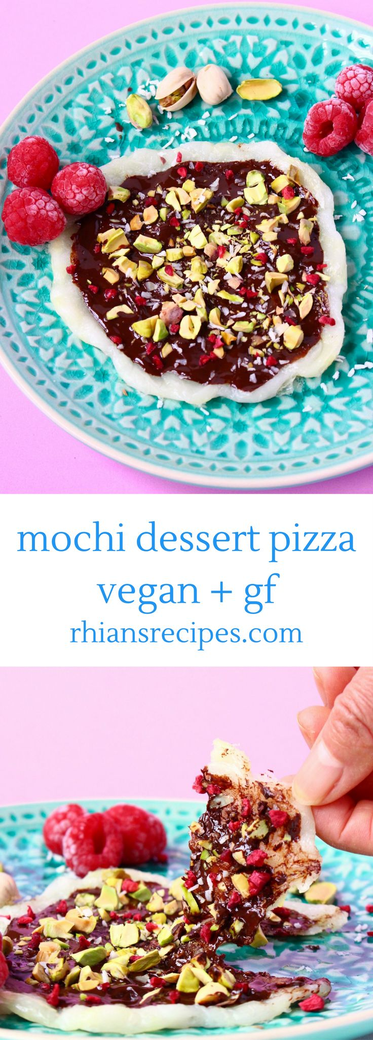 This Mochi Dessert Pizza is SO delicious, super easy to make and happens to be vegan and gluten-free too!