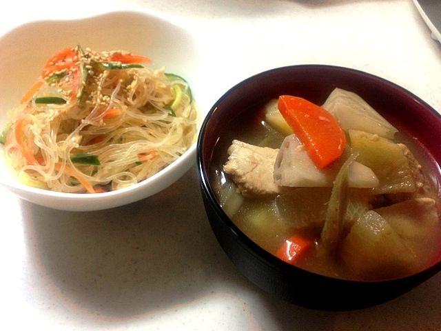 根菜がいっぱい入った醤油麹のスープ❤ - 4件のもぐもぐ - 野菜たっぷりスープ. 春雨サラダ by narunaruchan