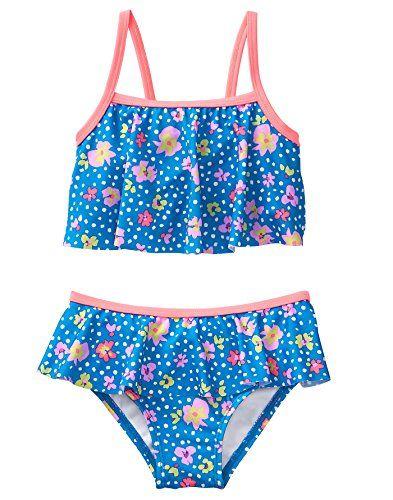 d4e12a148cf5c Crazy 8 Toddler Girls' 2-Piece Flutter Swimsuit, Brillian... https