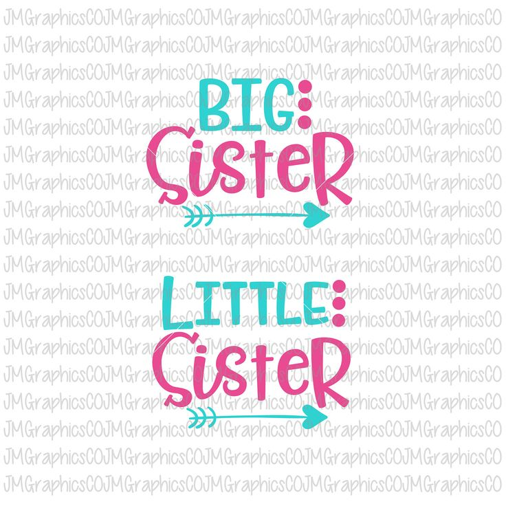 Big sister svg, little sister svg, eps, dxf, png,cricut, cameo, scan N cut, cut file, sibling svg, new baby svg, sister svg, baby girl svg by JMGraphicsCO on Etsy