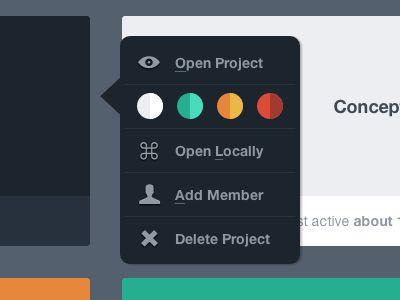 Flat UI LayerVault options menu