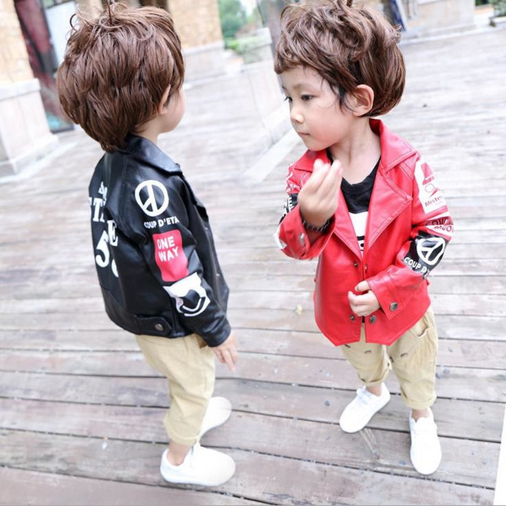 >> Click to Buy << DFXD New Arrival 2017 Baby Boys Leather Jackets Fashion Spring Faux Fur Coats Letter Print Single-Breasted Boys Outwear 18M-6T #Affiliate