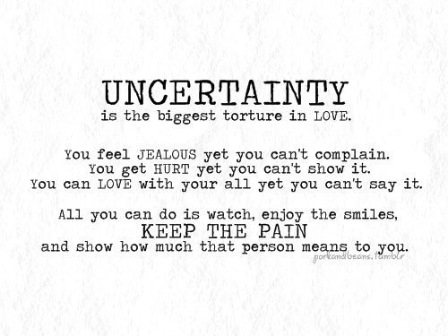 Relationship Uncertainty Quotes