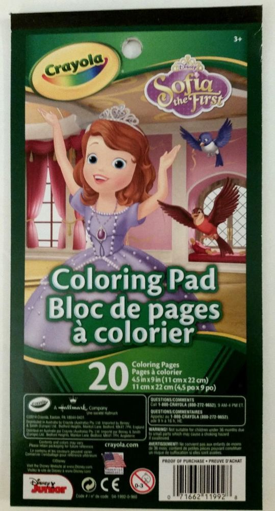 good Crayola Disney Sofia The First Colour and Sticker Book - www ...