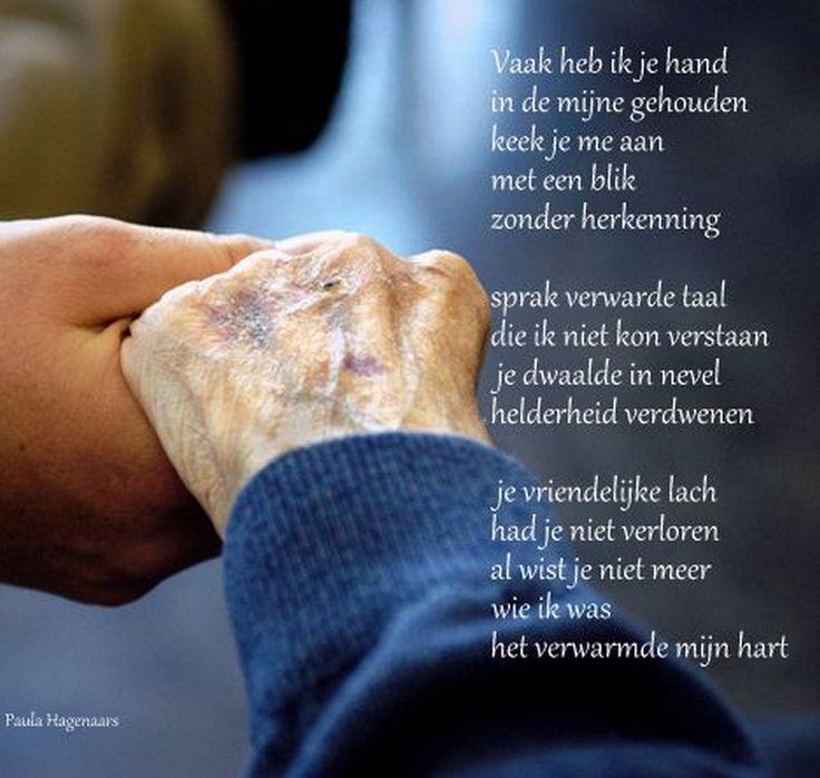 Gedichten Paula Hagenaars 21 september Wereld Alzheimer Dag