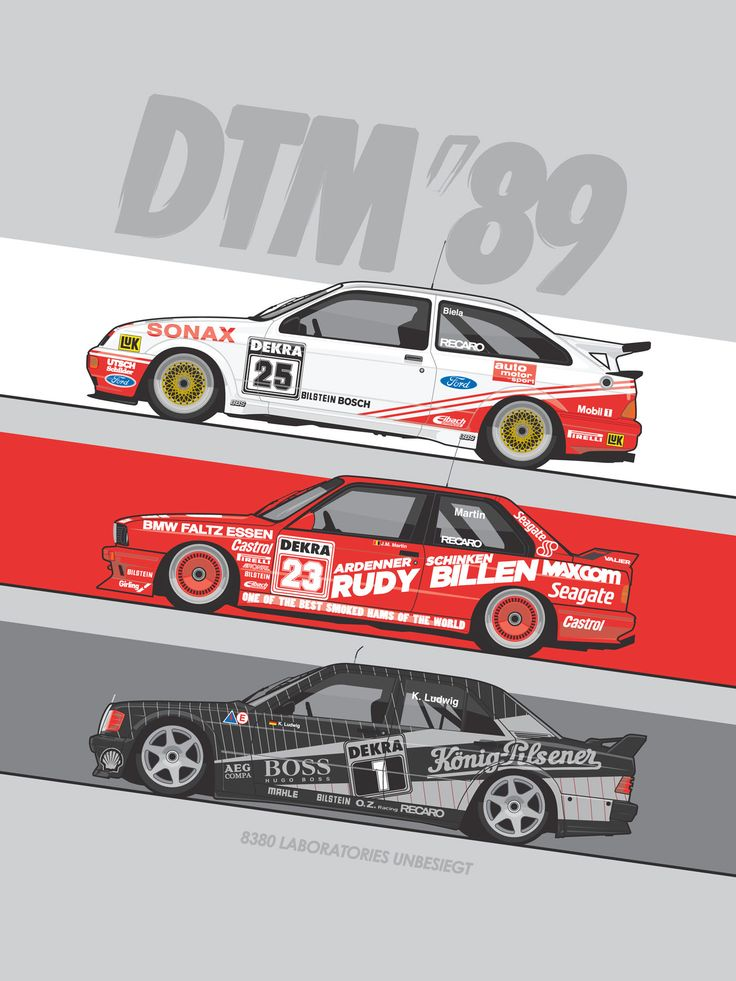 1989 DTM Touring cars - The season saw Ford Sierras, Mercedes 190Es and BMW M3s compete all over Germany.  Their epic on track battles will forever link them together with one of the best periods in sports car racing history!
