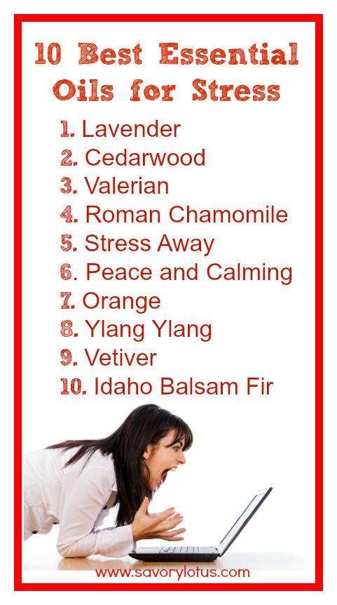 essential oils for stress - www.savorylotus.com #essentialoils