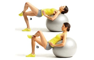 stability ball workout - I do love working on a ball!