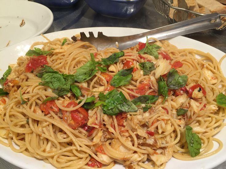 Spaghetti Baccalà e pomodoro