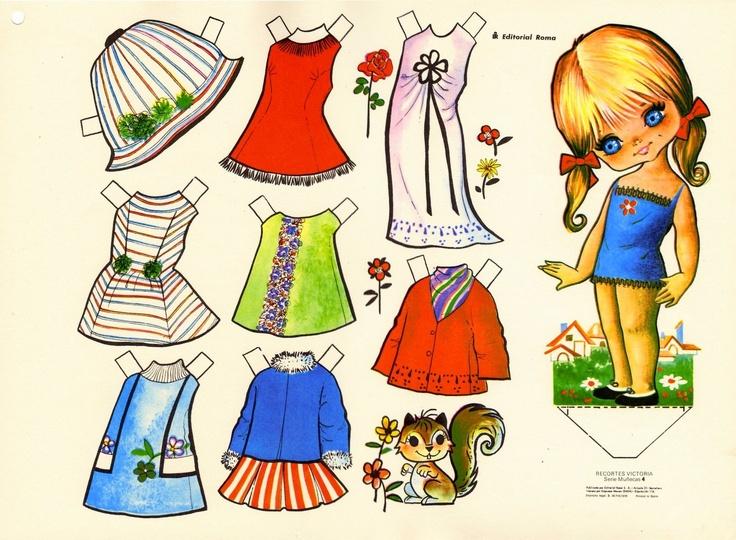 muñecas de papel    http://www.jugarycolorear.com/2010/03/munecas-para-recortar-y-vestir.html