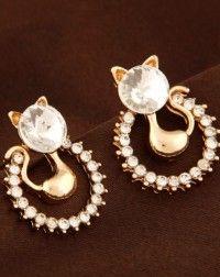 Cat Stud Earrings