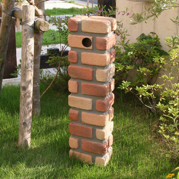g-life | Rakuten Global Market: FRP water faucet pillar cover brick style new JJ [water taps and stand flush and flush pillars / water supply / brick-like brick exterior / garden / new / gardening / horticultural /DIY / mail order]