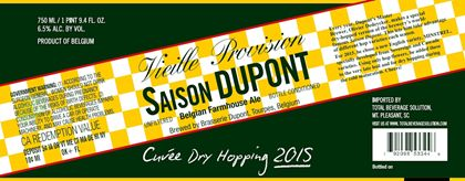 mybeerbuzz.com - Bringing Good Beers & Good People Together...: Saison Dupont -  Cuvee Dry Hopping 2015