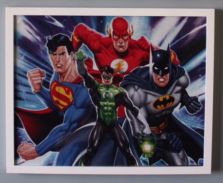 (b) Justice League Team 50cm x 40cm