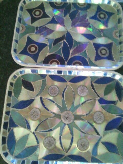 Ria's CD trays mosaic