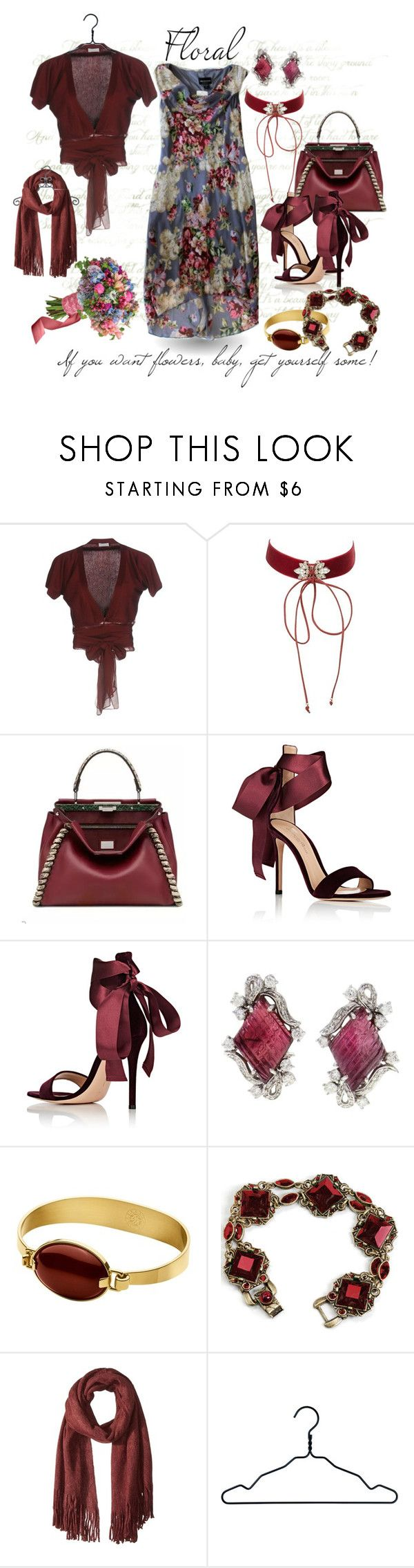 """Get Yourself Some Flowers"" by gypsy-jo ❤ liked on Polyvore featuring Brunello Cucinelli, Charlotte Russe, Gianvito Rossi, Dyrberg/Kern, Steve Madden and Nomess"