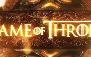 il trono di spade  serie tv