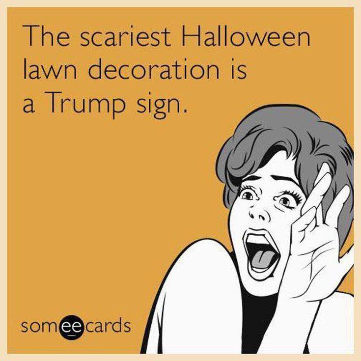 Funny Donald Trump Memes: Scariest Halloween Lawn Decoration