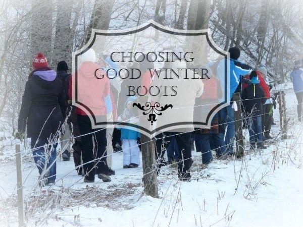Choosing Good Winter Boots