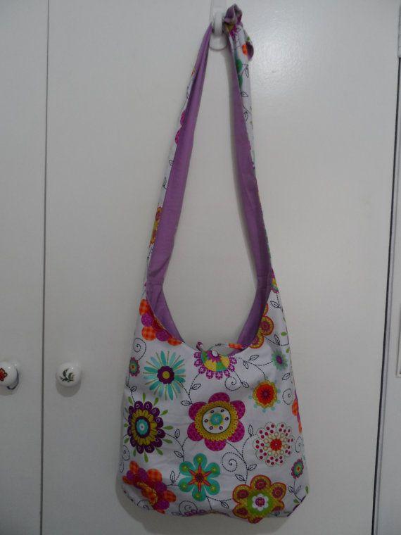 Hobo Bag Cross Body Bag Sling Bag Hippie Purse by Fiberartplus