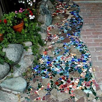 beautiful mosaic walkway