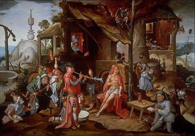 Мандейн Ян (1502-1560) — Осмеяние Иова. (Частная коллекция)