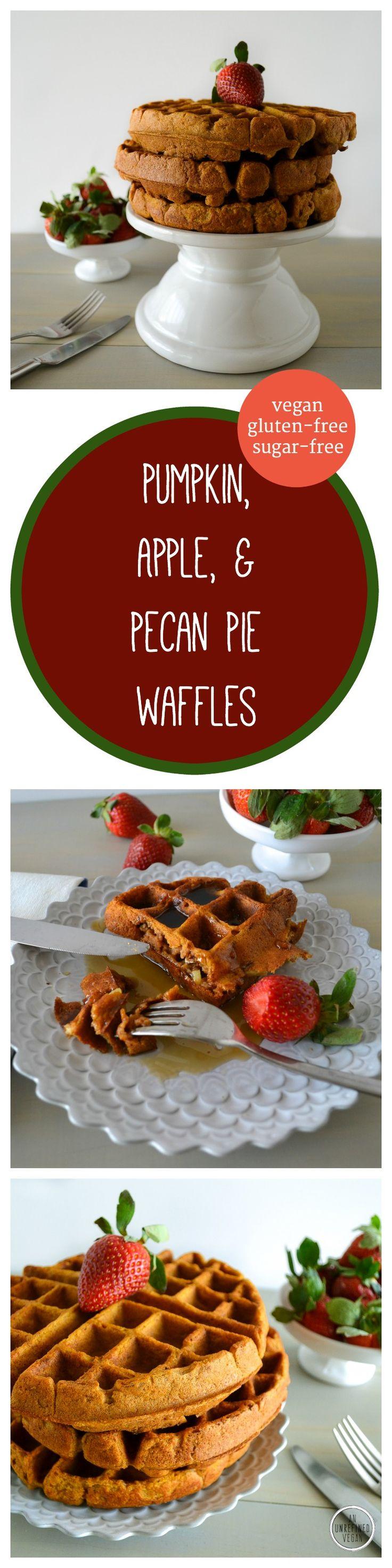 Gluten-free, sugar-free, dairy-free Pumpkin, Apple, & Pecan Pie ...