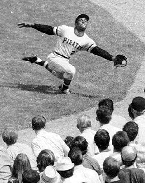 One of the great outfielders Roberto Clemente. Awesome humanitarian.