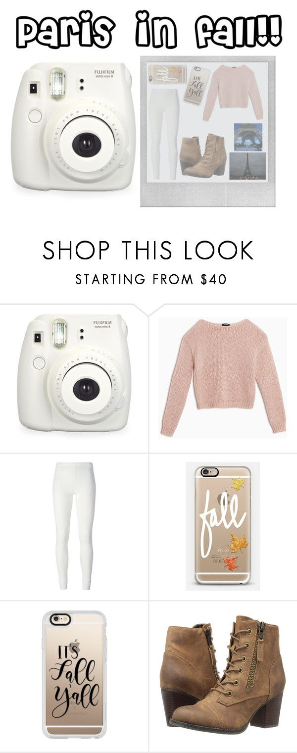 """""""Paris in fall!!"""" by maryyyyyyyyyyy ❤ liked on Polyvore featuring Fuji, Polaroid, Max&Co., Rick Owens Lilies, Casetify, Madden Girl and WALL"""