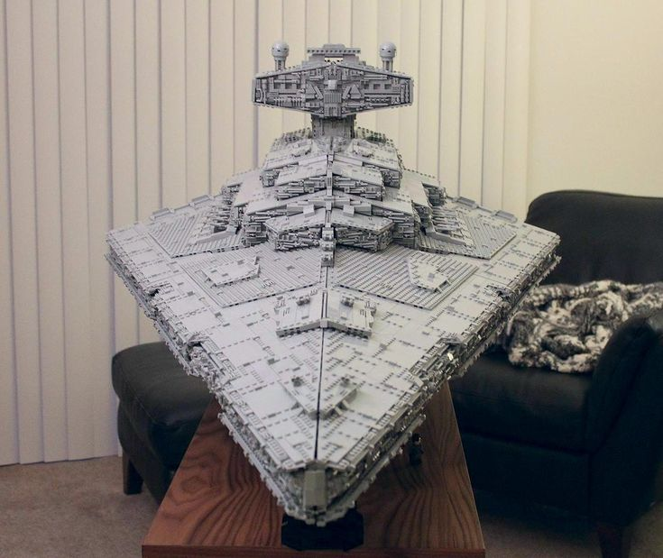 Custom Imperial Star Destroyer Tyrant (20x Larger than Official Model) with Working Bridge