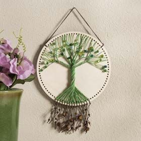 Needlecrafting - DIY String Art Tree, Perfect for a spring decor craft