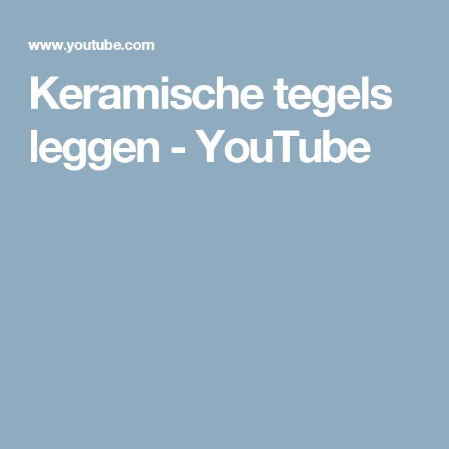 Keramische tegels leggen - YouTube