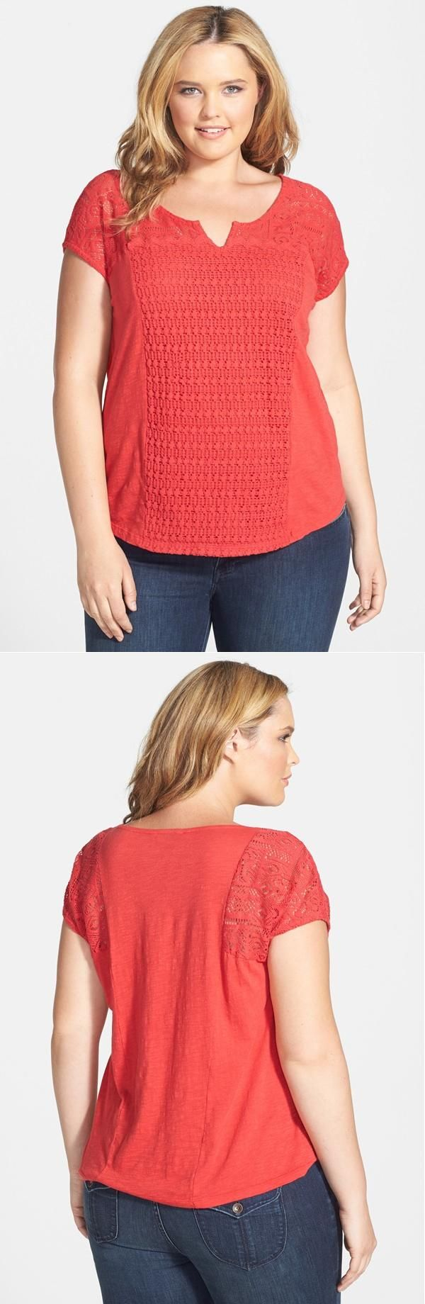 Lace Patchwork Top (Plus Size)