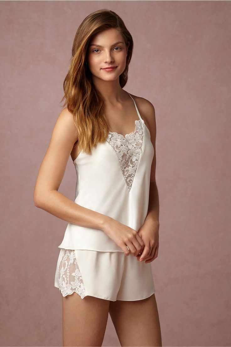 BHLDN Farrah Camisole in  Bride Bridal Lingerie at BHLDN