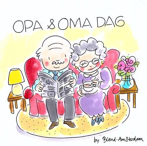 Opa en Oma dag Blond Amsterdam