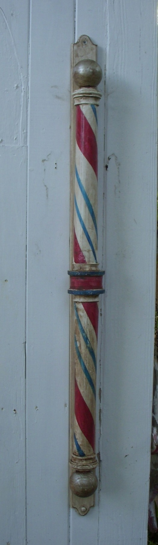 Handcrafted Circa 1890 Barber Shop Pole - Wooden - dentist, doctor, surgeon, gift idea