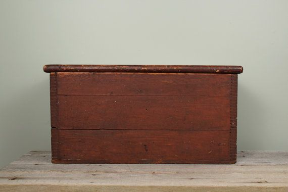 Antique Large Blanket Chest Large Wooden Storage by TheHomeMarket