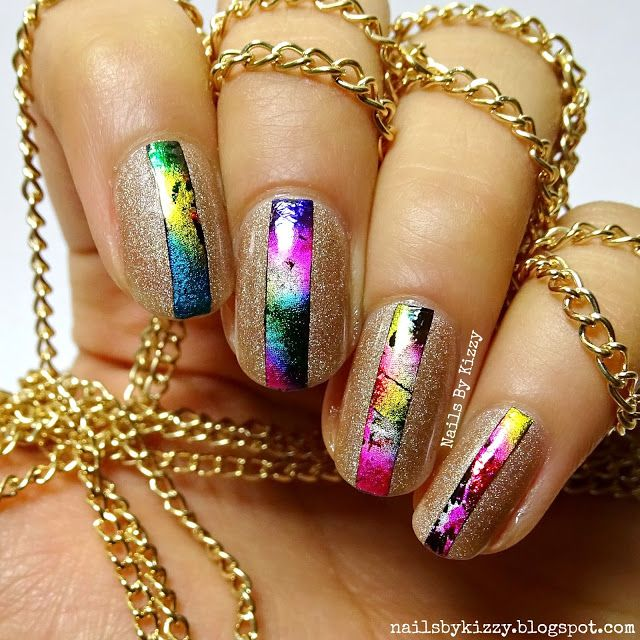 Nails By Kizzy: Rainbow Foil Nail Art!