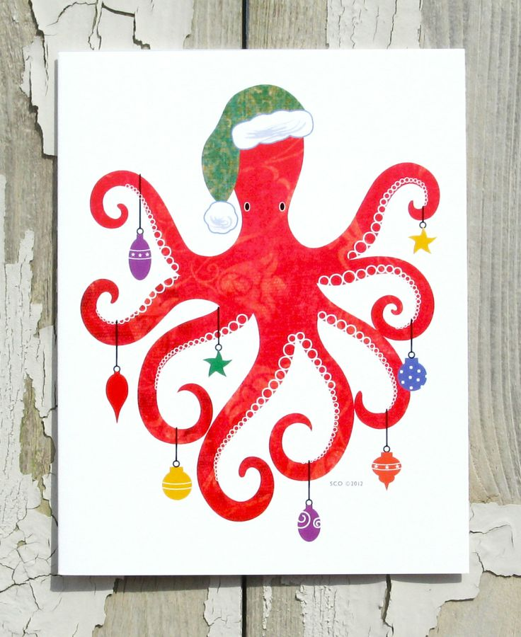 Because nothing says Merry Christmas like a festive octopus.
