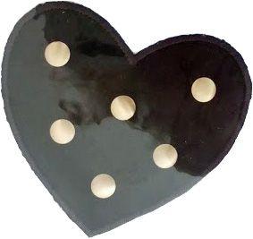 Brodyrmärke Svart Hjärta med nitar