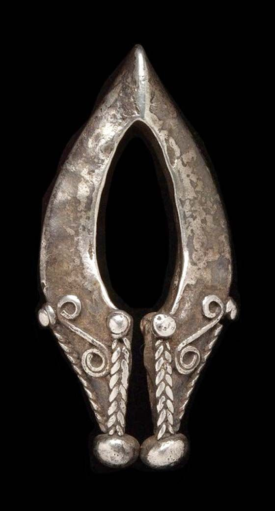 Indonesia ~ Small Sunda Island region | Earring from the Lembata Island, Nusa Tenggara Timur province | Traditionally this type of earring was always included when it came to the exchange of gifts between the bride and groom's parents.
