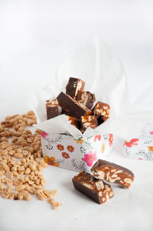 СахарОбилие - Мини-батончики с арахисом и карамелью.