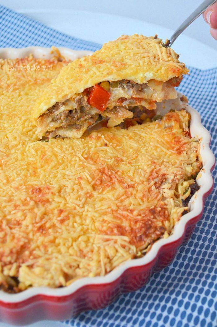 Mexican tortilla pie - Mexicaanse wraptaart - Laura's Bakery